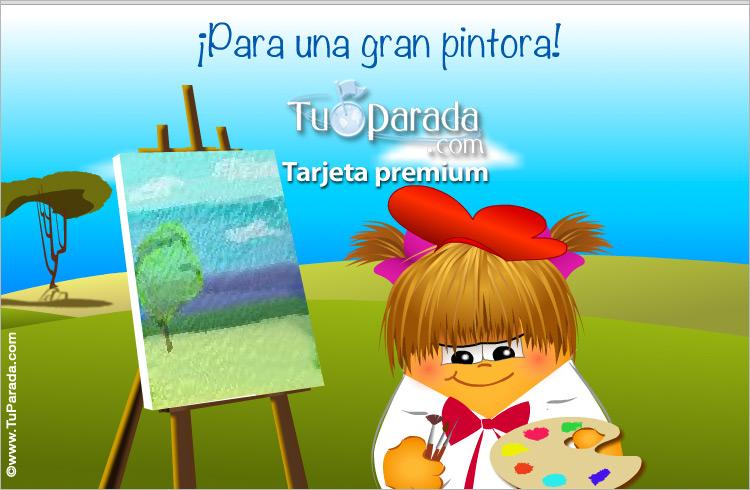 Tarjeta - Tarjeta para una pintora