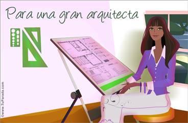 Tarjeta para arquitectas