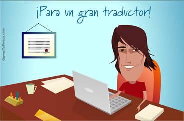 Tarjeta para un gran traductor