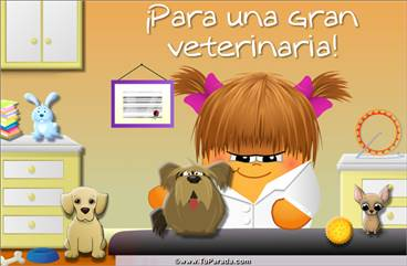 Tarjeta para una gran veterinaria