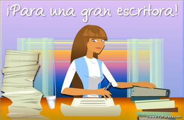 Tarjeta para una escritora