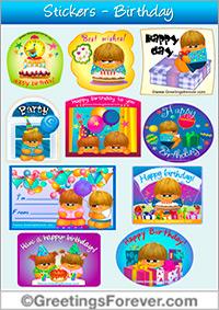 Stickers for Birthdays