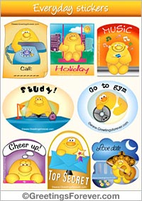 Stickers for every day