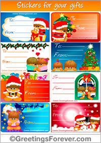 Stickers for Christmas tree