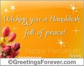 Hanukkah eCard: Wishing you...