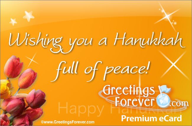 Ecard - Hanukkah eCard: Wishing you...