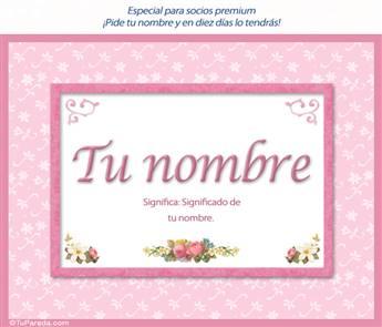Nombres con significado para mujer