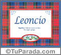 Leoncio - Significado y origen