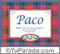 Paco - Significado y origen