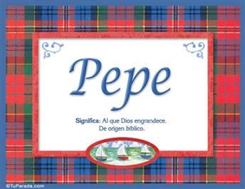 Pepe - Significado y origen