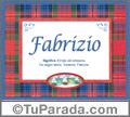 Fabrizio - Significado y origen
