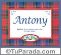 Antony - Significado y origen