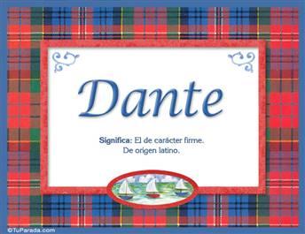 Dante - Significado y origen