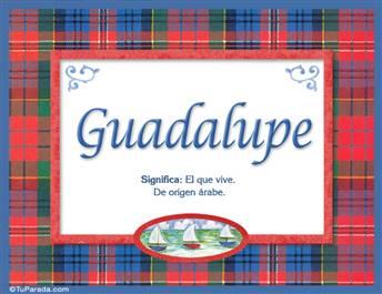 Guadalupe - Significado y origen
