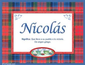 Nicolás - Significado y origen