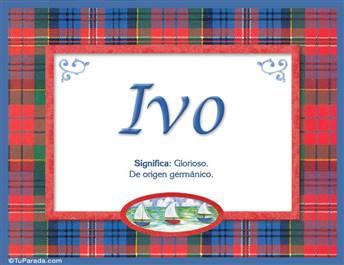 Ivo - Significado y origen
