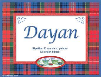 Dayan - Significado y origen
