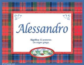 Alessandro - Significado y origen