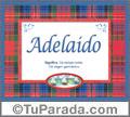 Adelaido - Significado y origen