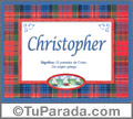 Christopher - Significado y origen