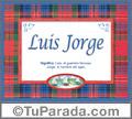 Luis Jorge - significado y origen