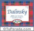 Dalinsky - Significado y origen