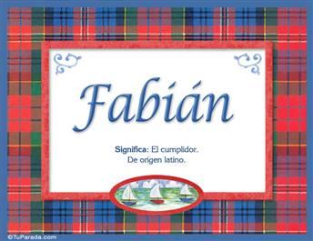 Fabian - Significado y origen