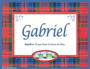 Gabriel - Significado y origen