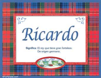 Ricardo - Significado y origen