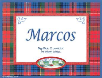 Marcos - Significado y origen