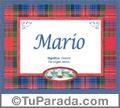 Mario - Significado y origen