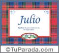 Julio - Significado y origen