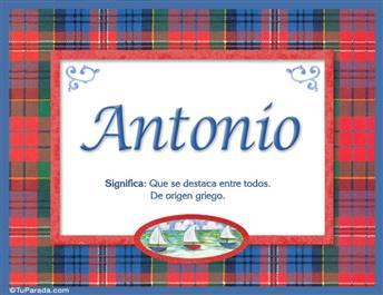 Antonio Significado Del Nombre Antonio