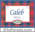 Caleb - Significado y origen