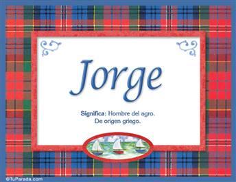 Jorge - Significado y origen