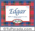 Edgar - Significado y origen