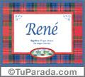 René - Significado y origen
