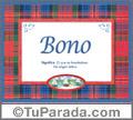 Bono  - Significado y origen
