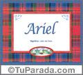 Ariel - Significado y origen