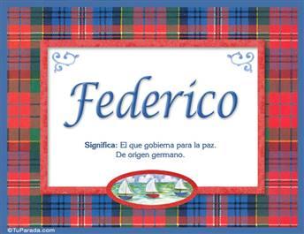 Federico - Significado y origen