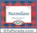 Maximiliano - Significado y origen