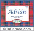 Adrián - Significado y origen