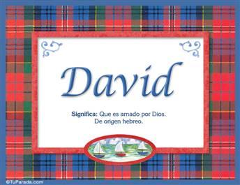 David - Significado y origen