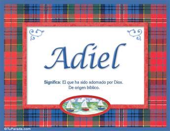 Adiel - Significado y origen