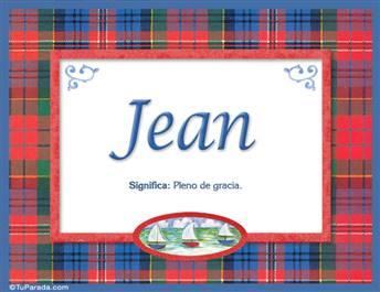 Jean - Significado y origen