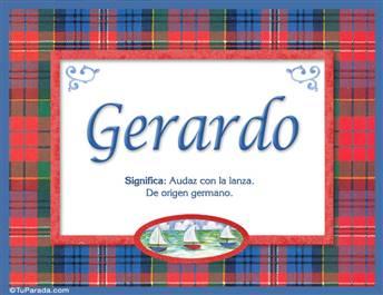 Gerardo - Significado y origen
