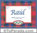 Raúl - Significado y origen