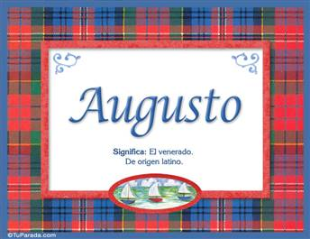 Augusto, nombre, significado y origen de nombres