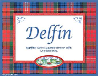 Delfín, nombre, significado y origen de nombres