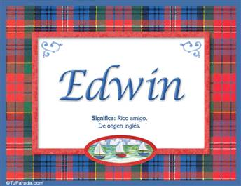 Edwin, nombre, significado y origen de nombres